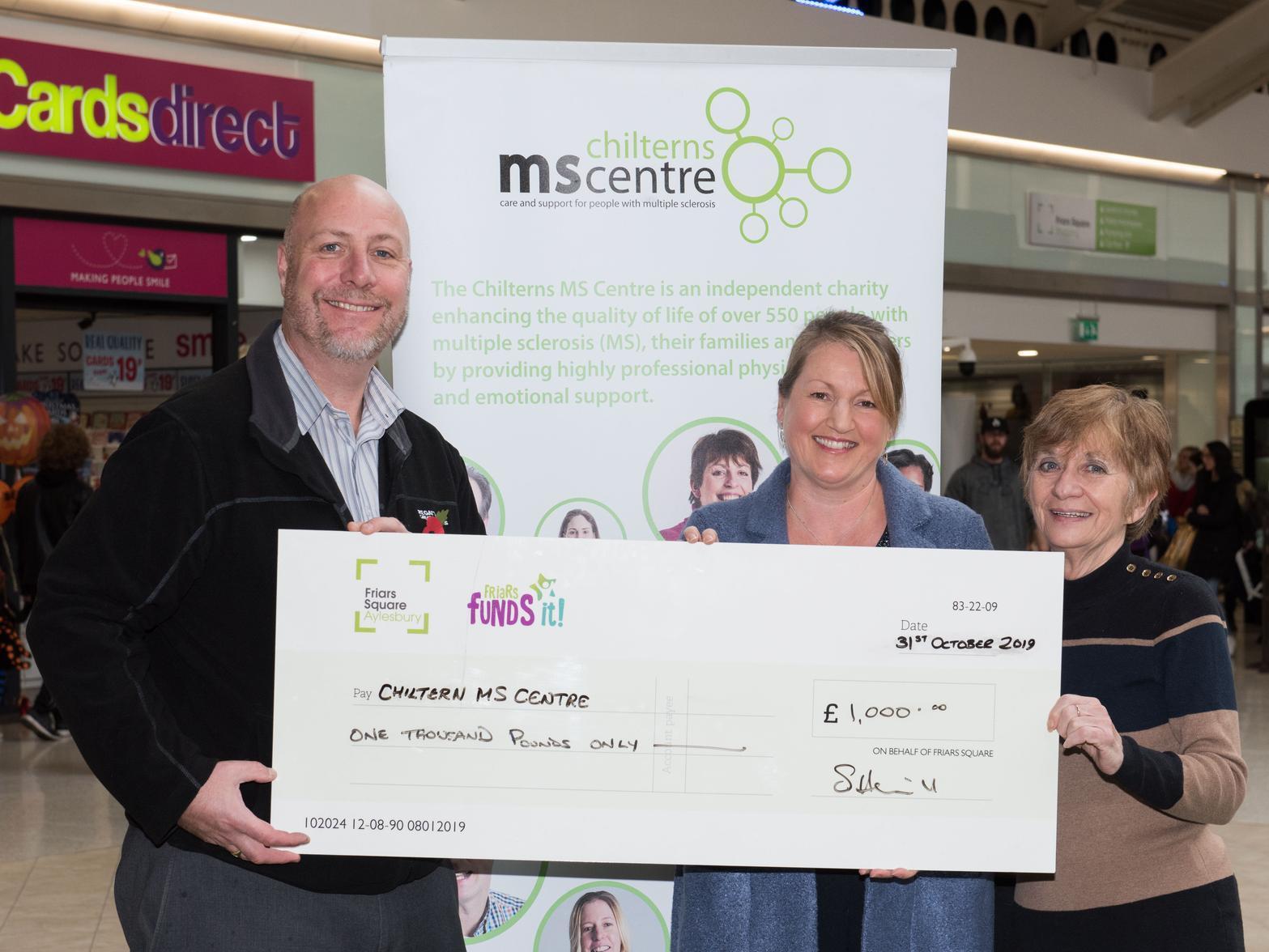 Friars Square donates £2,500 to worthy causes across Aylesbury Vale - Bucks Herald