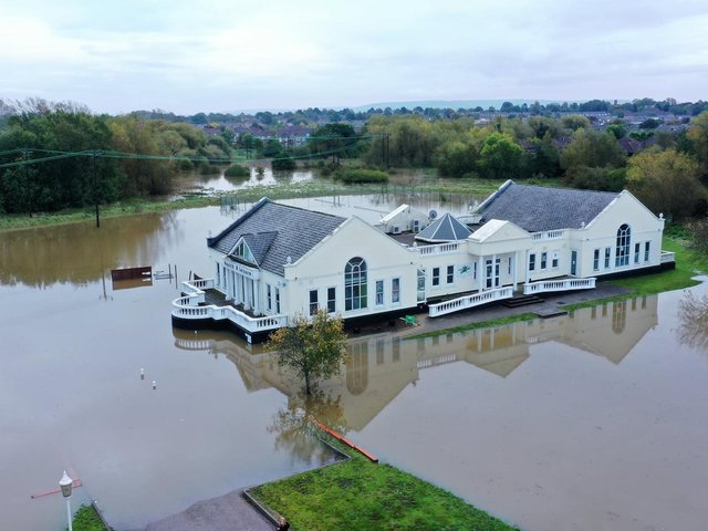 Reflexions Health and Leisure club near Watermead surrounded by surface water