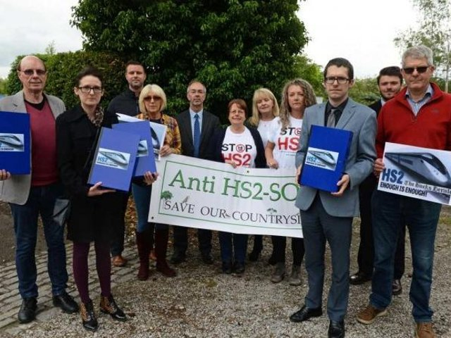 Martin Tett (Centre) is angry with HS2's lack of communication