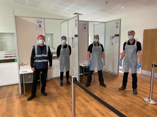 Chilfest team manning Covid Test Centre
