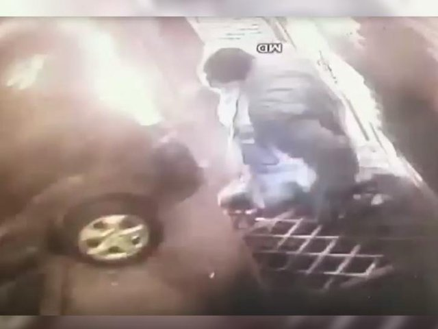 CCTV video shows Jamie Sturges almost hit a shopkeeper when crashing into Aylesbury store
