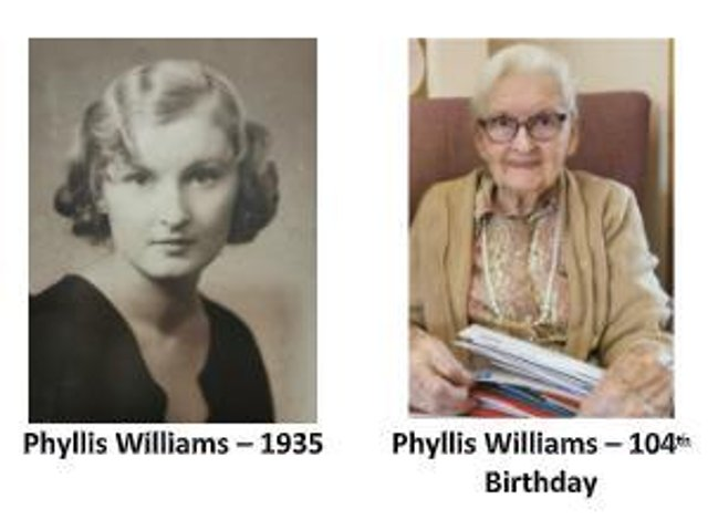 Many happy returns Phyllis