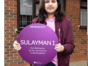Sulayman I, Buckingham schoolboy, won a national award for creating a project to help get hot meals to people in need