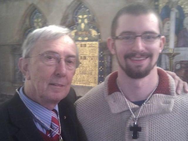 Peter Farquhar, 69 and Ben Fields, 30