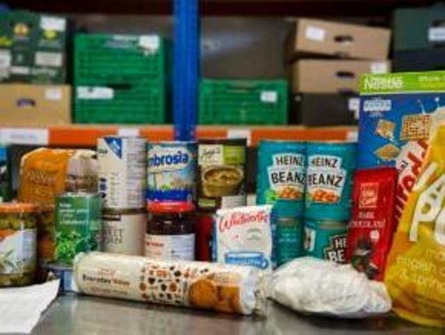 Food bank stock image
