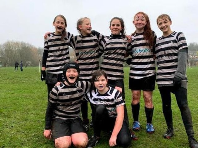The girls at a very rainy Wycombe festival earlier this month