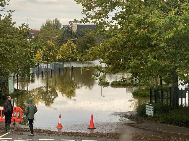 Flooding at Vale Park last year