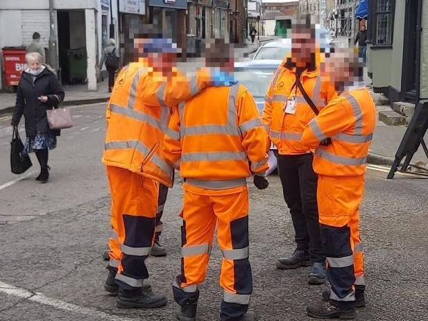 PICTURED: The group on Buckingham Street in Aylesbury