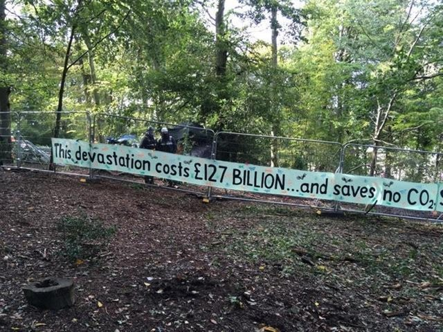 Protests at Jone's Hill Wood have been ongoing for a long period now