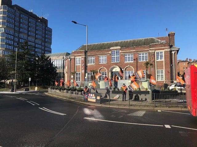 British Gas workers striking in Aylesbury earlier this year