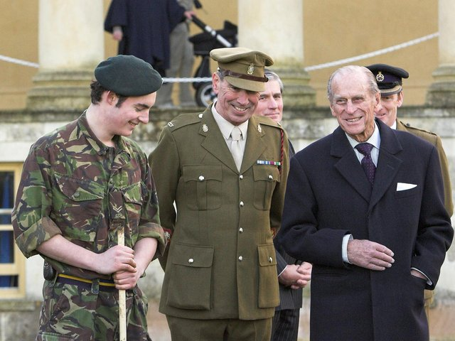 Prince Philip on a Royal visit to Stowe School in 2007