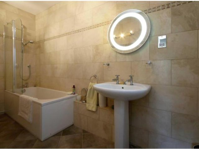 One of three bathrooms at the property