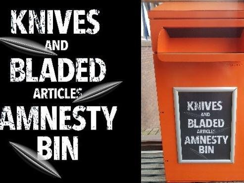 Knives and bladed weapons amnesty bins set to be rolled out next week