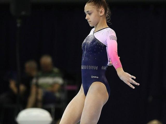 Jessica at the FIG Artistic Gymnastics Junior World Championships on 28 June 2019