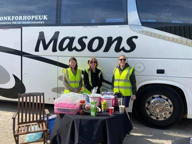 Masons hosted a charity car wash to raise funds for the Florence Nightingale Hospice Charity