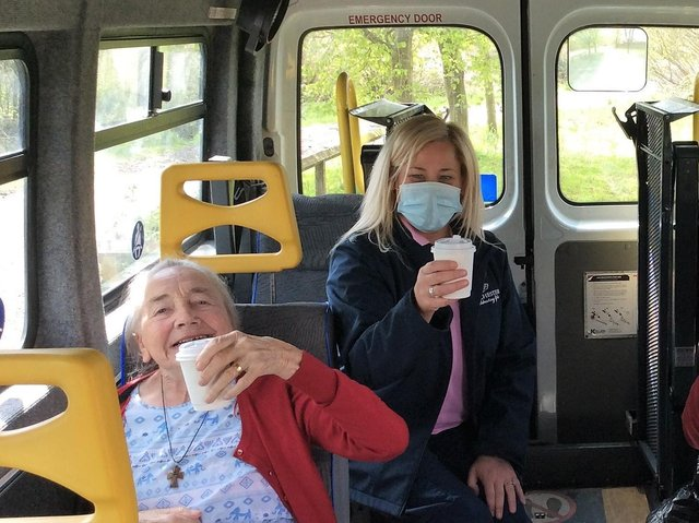 Residents were loving their first trip out since the pandemic began