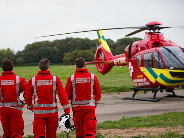 Thames Valley Air Ambulance was called out 92 times to incidents in Buckinghamshire during April 2021