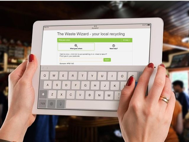 The Waste Wizard enables residents to search thousands of items from pop bottles to paddling pools, to see which items can be recycled.