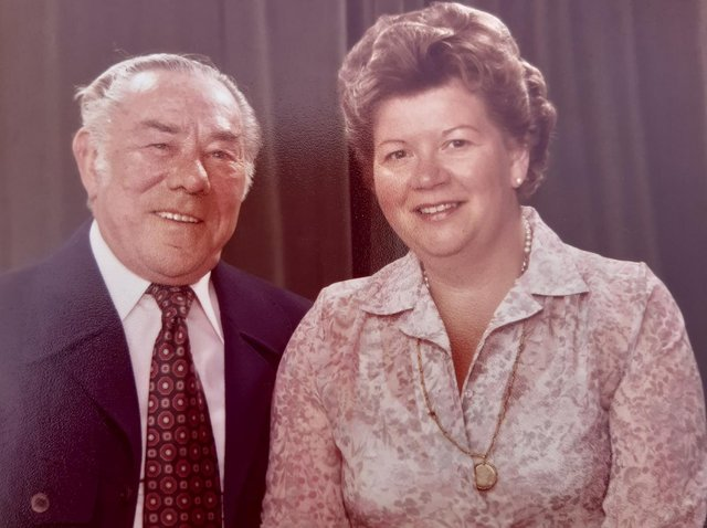 Ursula with her husband Charles (1972)