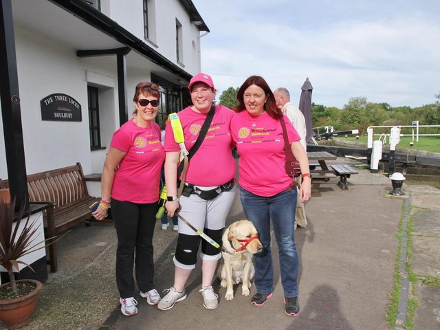 Lorraine White, Shannon Moore and Shannon's mum Paula White on the Walk of Hope