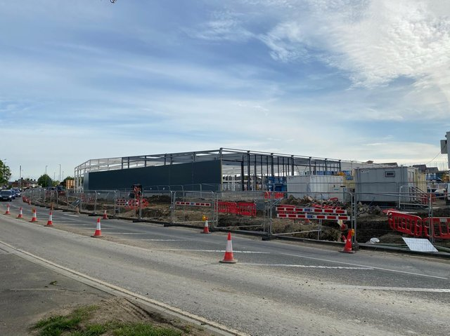 A work in progress, the new Sainsbury's mega store coming to Aylesbury