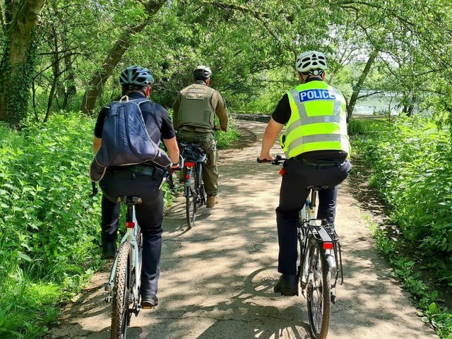 The event saw officers cycle around 22 miles, between Tring and Springwell lock, as well as along adjoining river tributaries