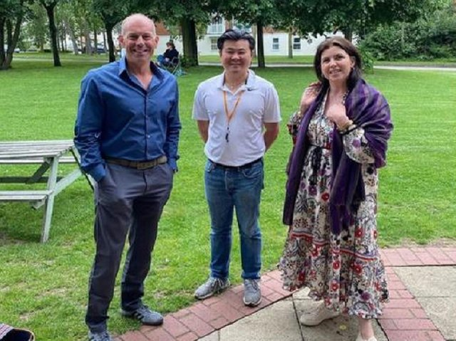 Kirstie, Phil and Kelvin Wong courtesy of The Watermead Inn