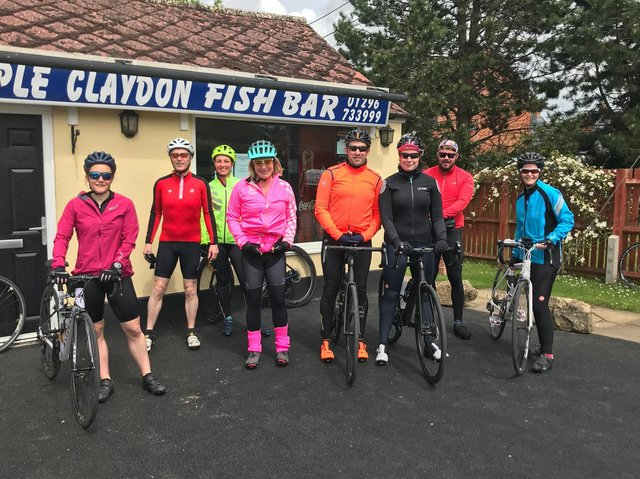 Members of Steeple Claydon Cycling Club