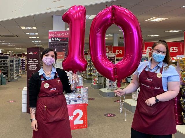 Hobbycraft in Aylesbury is celebrating 10 years