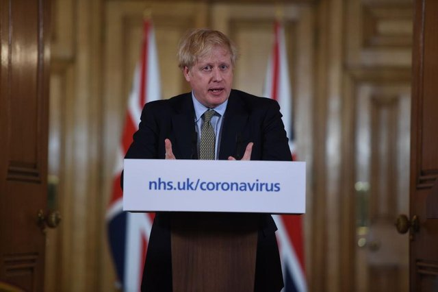 Boris Johnson gestures as he gives a press conference about the ongoing situation with the coronavirus (Photo: Eddie Mulholland - WPA Pool/Getty Images)