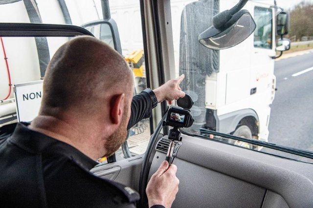 Police use the supercabs for a better vantage point to spot offenders